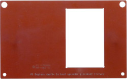 Abbildung Heatspreader-Schablone für APU.2/3/4 Boards