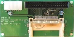 Abbildung CompactFlash nach IDE-Adapter (CF-Disk Standard)