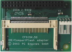 Abbildung PC Engines CompactFlash nach IDE-Adapter (CF-Disk direkt flach)