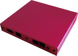 Abbildung Rotes Gehäuse für PC Engines ALIX.2D2/2D18, ALIX.6I2, APU.2C0/2D0/2E0