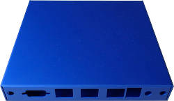 Abbildung Blaues Gehäuse für ALIX.2D3/2D13, APU.1, APU.2, APU.3