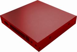 Abbildung Rotes Gehäuse für PC Engines APU.4 (6xAntenne)