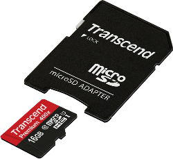 Abbildung Transcend microSDHC UHS-I/Class 10