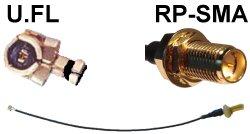 Abbildung Pigtail von U.FL (Mini-SMT/I-PEX) auf RP-SMA